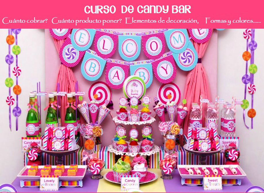 Curso para hacer mesas de dulces y decorar eventos for Ideas para decorar mesa de dulces